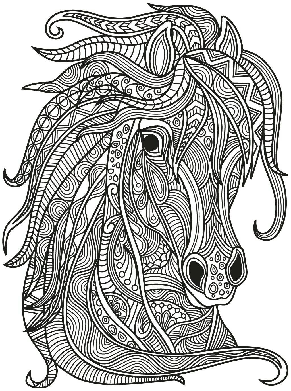 Adult Coloring Pages Books Colouring Free Printable Horses Print In Mandalas Animals