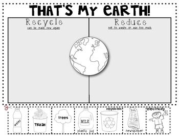That's My Earth! {Reduce and Recycle} Sort for Earth Day ...