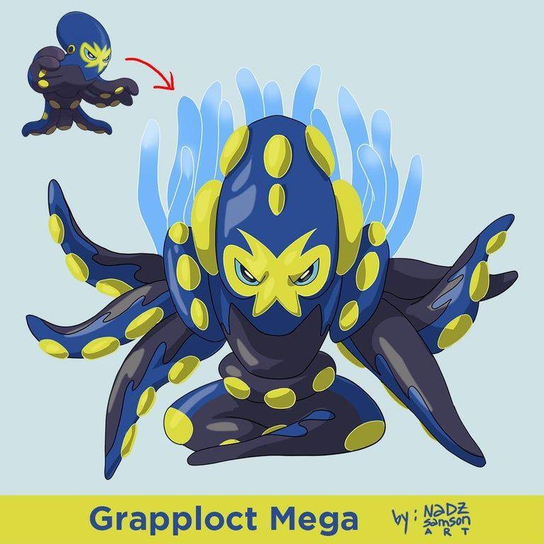 Grapploct mega pokemon in 2020 mega evolution pokemon