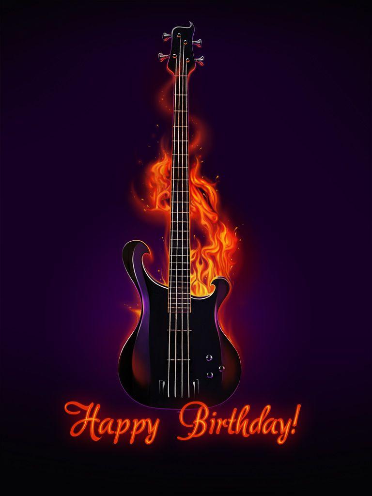 Открытки с днем рождением гитаристу