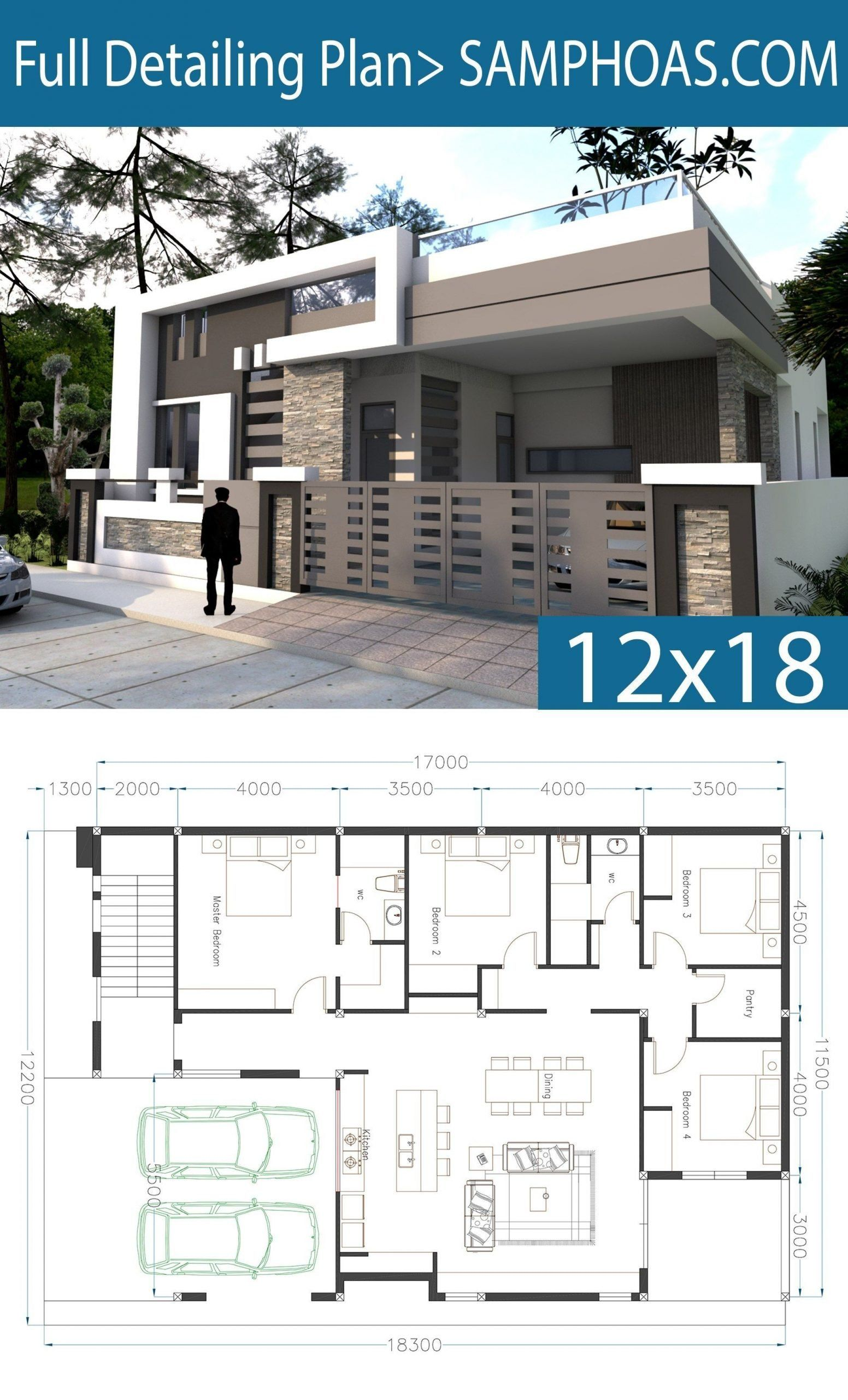 One Story Modern House Floor Plans E Story House Plan 40x60 Sketchup Home Design In 2020 Small Modern House Plans Model House Plan House Architecture Design
