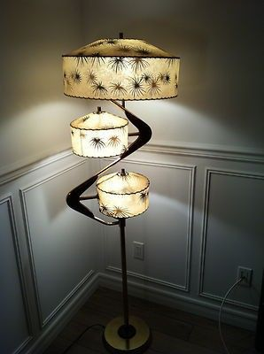 atomic style lamp unique lamp home decor Original Singletron Mid Century Modern Rock table or floor lamp made of fiberglass