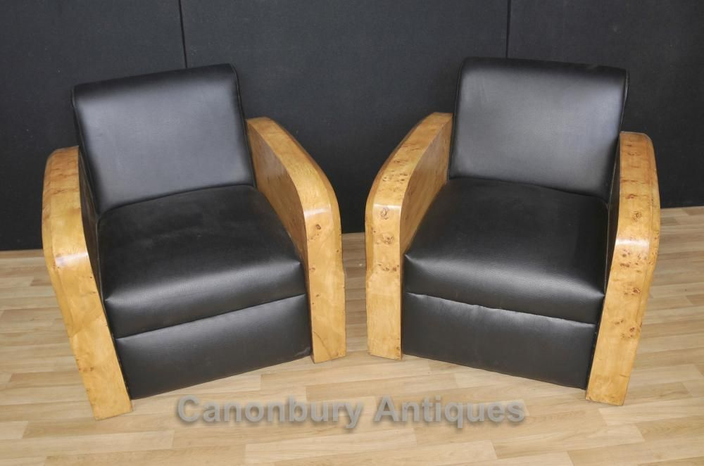 Fine Pair Art Deco Arm Chairs Club Chair Sofa 1920S Lounge Ocoug Best Dining Table And Chair Ideas Images Ocougorg