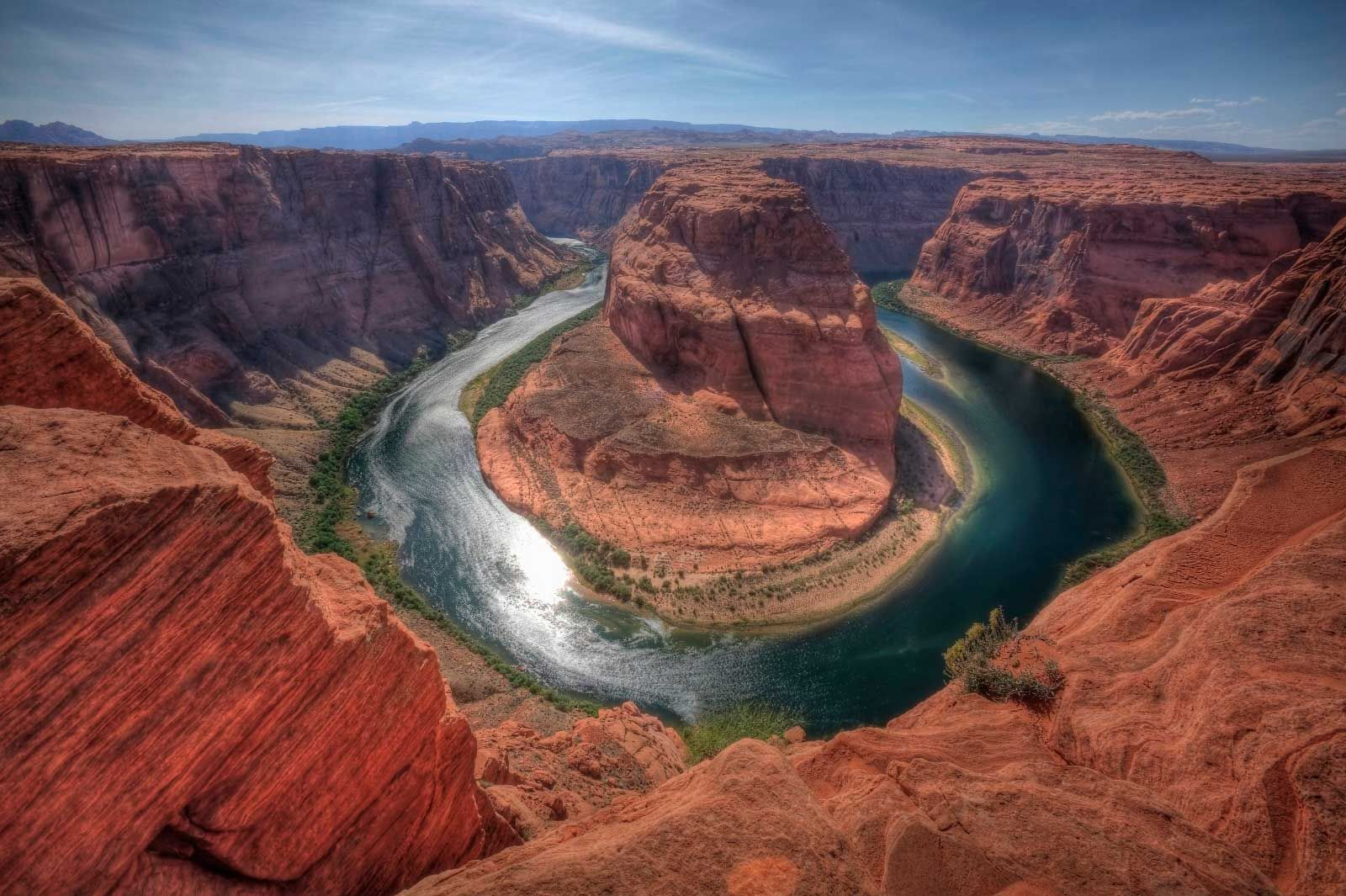 Horseshoe Bend Kind Of Meanders Of The Colorado River In