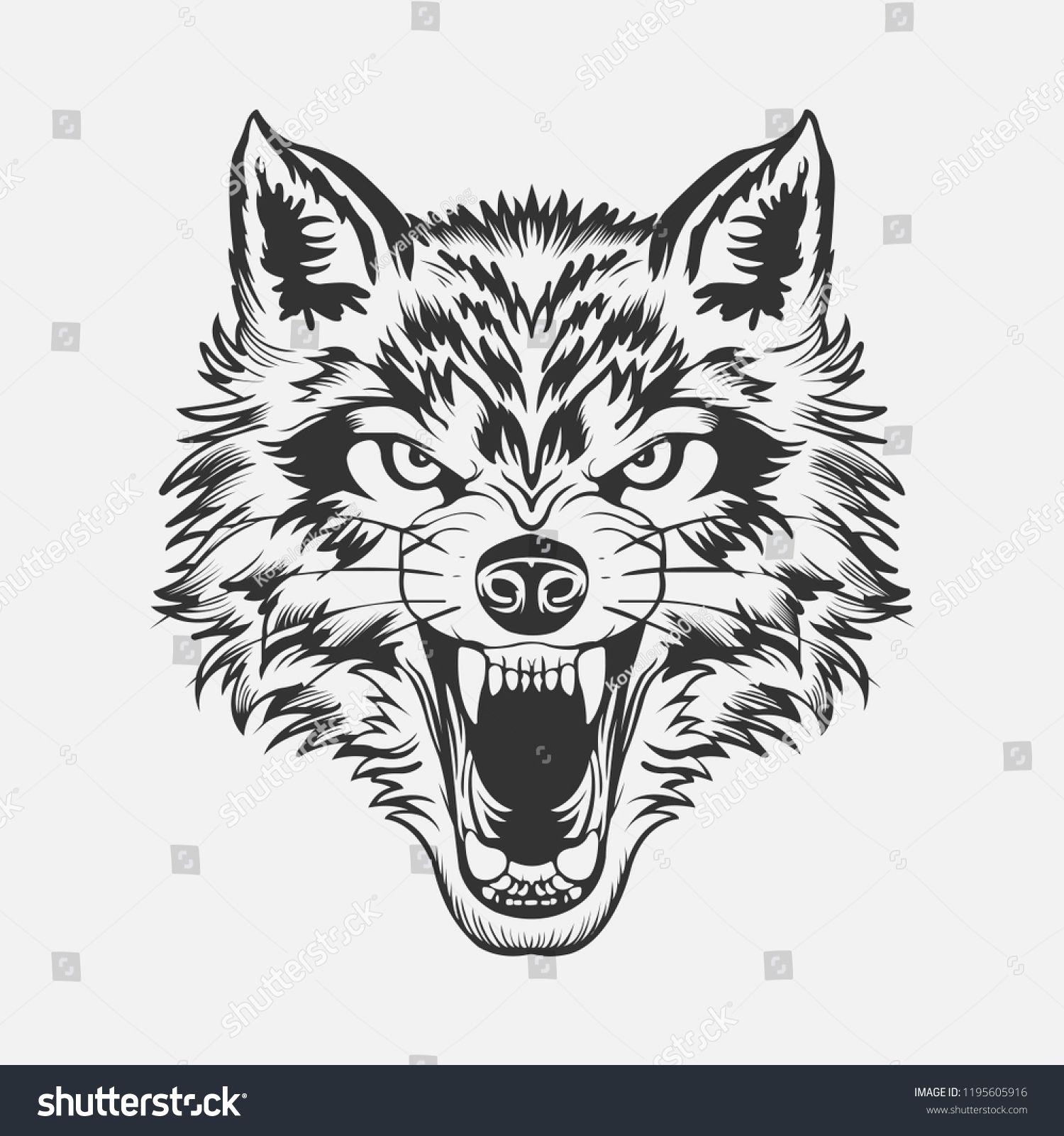 Wolf Head Tattoo Wolf Head Tattoo Cara De Lobo Tatuagem Rosto De Lobo Tatuagem Tribal De Lobo