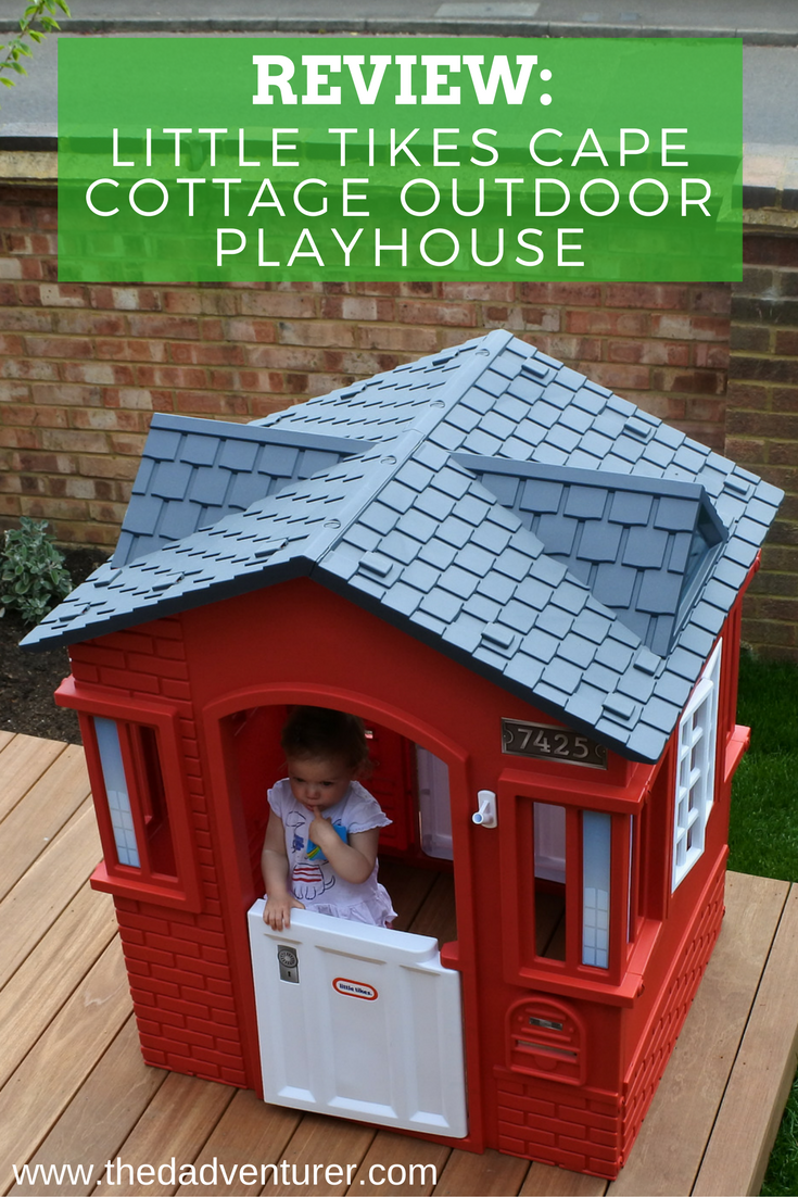 A review of the Little Tikes Cape Cottage kids playhouse in red and black. Click through to read the review, watch the video and see why I gave it 5 out of 5 stars. @littletikes @littletikesuk