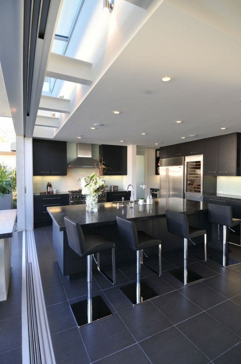 U küchendesign-ideen eine schwarze küche wählen u tipps und  interieur ideen  küche