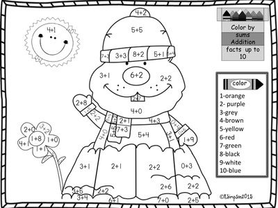 groundhog day addition sums to 10 coloring page from joy from joy on teachersnotebookcom