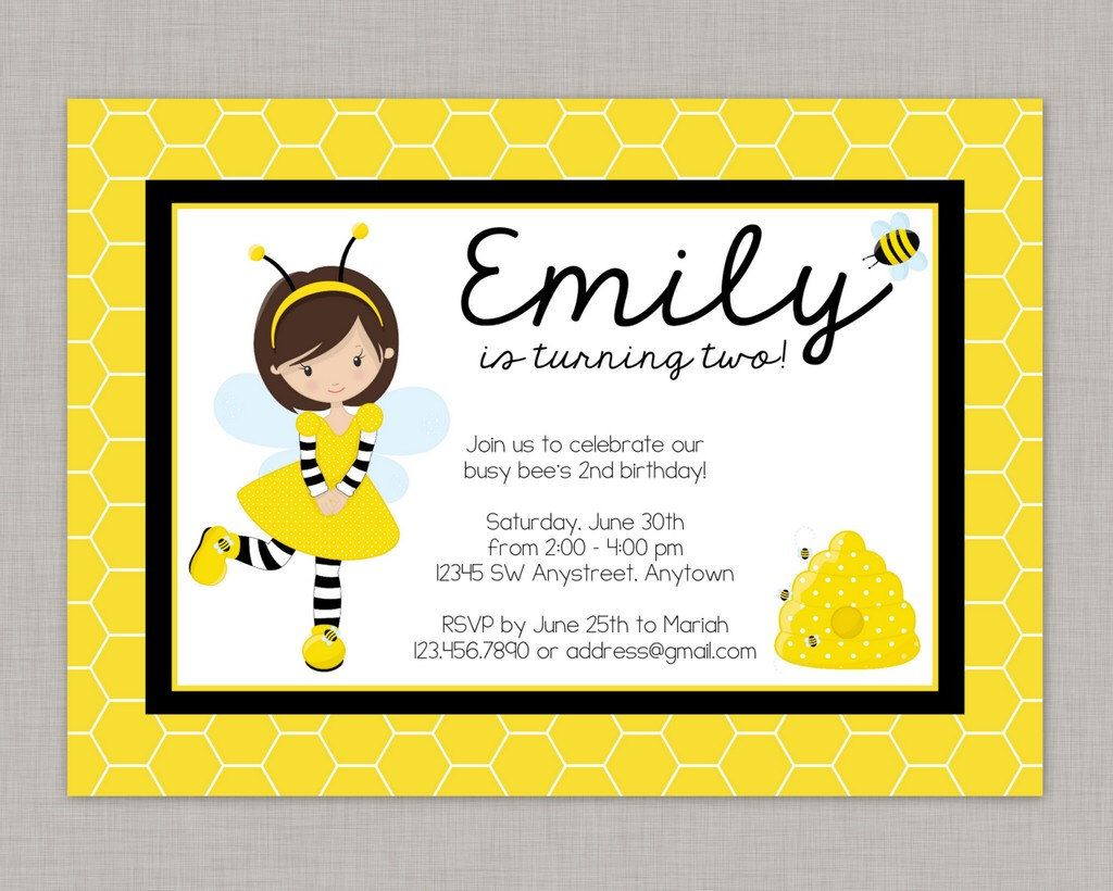 spelling bee invitation template - bumble bee invitation bee invitation bumble bee party