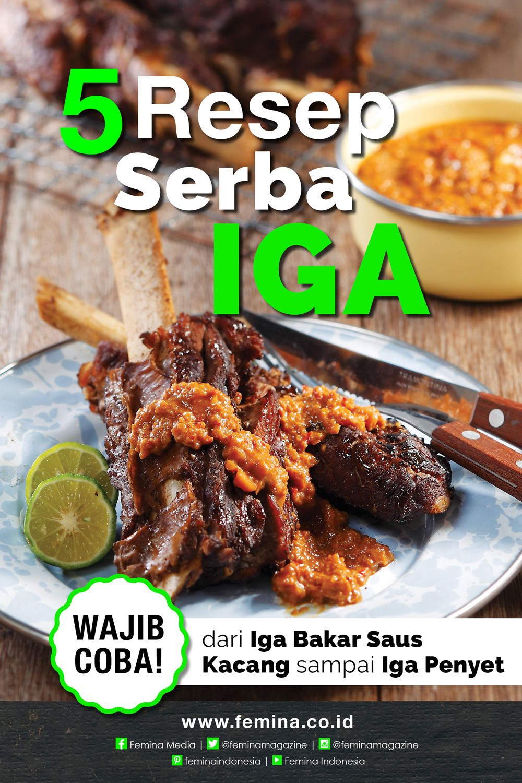 5 Resep Serba Iga Resep Daging Sapi Resep Masakan Masakan Asia