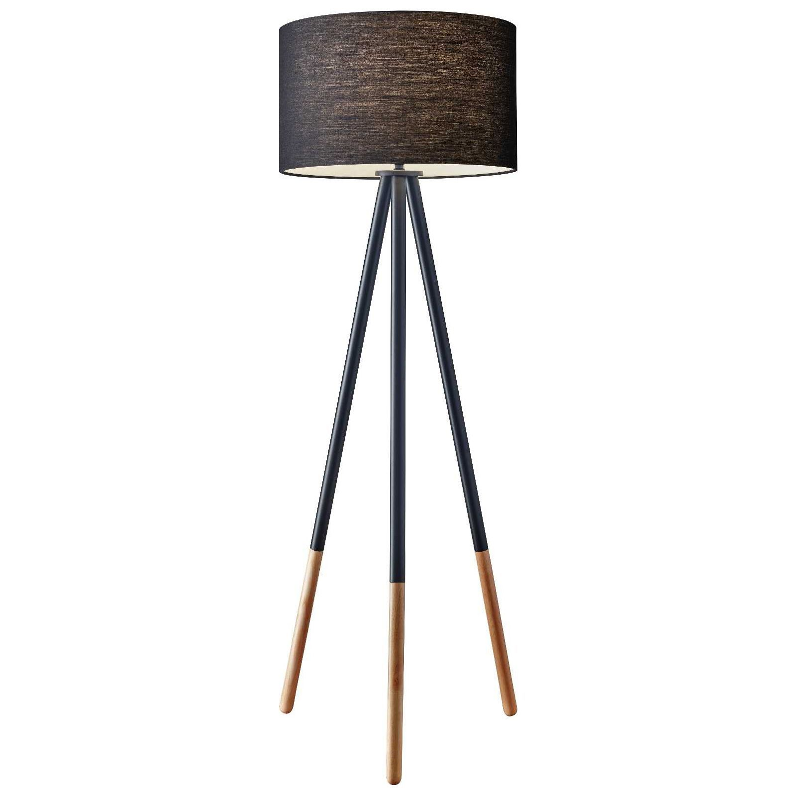 Louise Floor Lamp By Adesso Corp 6285 01 Lampe Bois