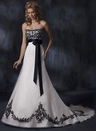 gothic wedding dresses | ... black and white gothic wedding dress ...