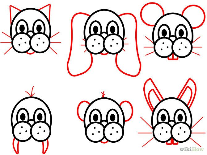 Draw cartoon animal faces step 4 jpg