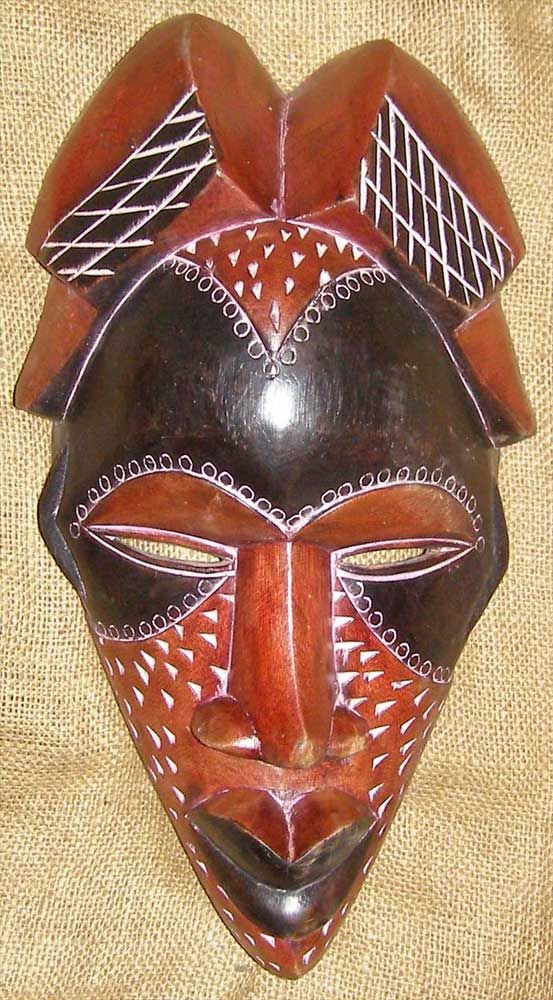 African mask of the Tikar people from Cameroon.                                                                                                                                                                                 More