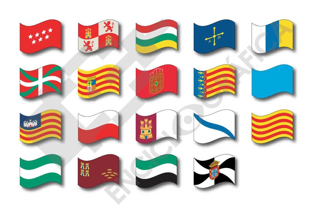 Banderas de Comunidades Autónomas -