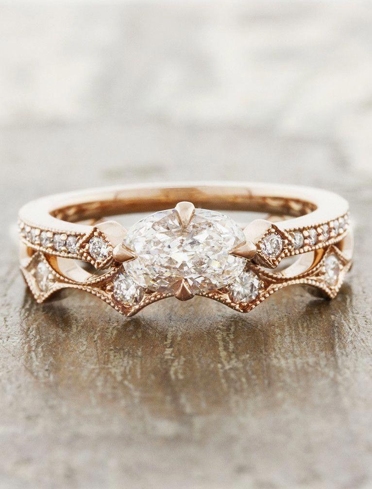 Top Quality Vintage Wedding Rings 5410 Vintageweddingrings Rose Engagement Ring Rose Gold Wedding Band Diamond Gold Diamond Wedding Band