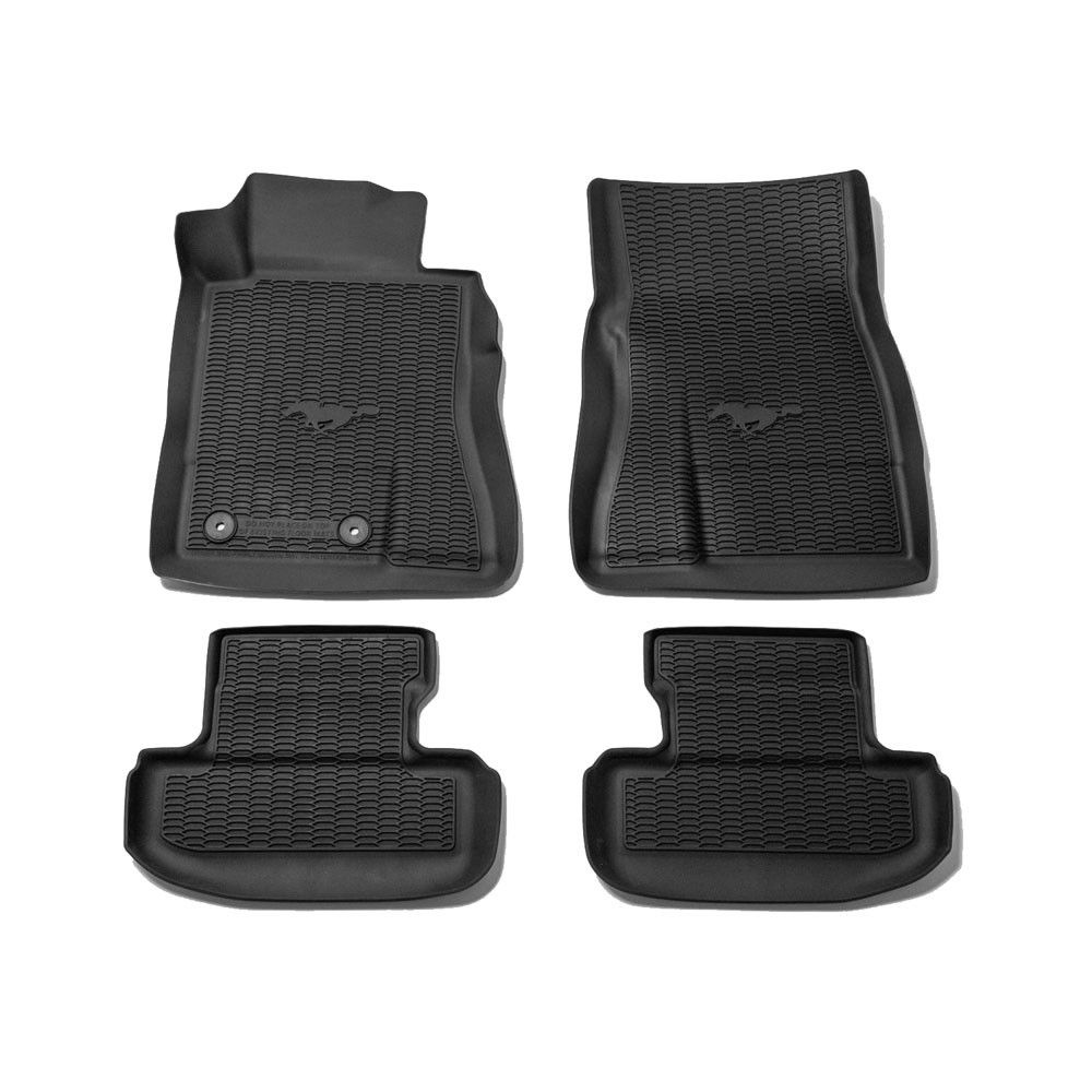 Ford Floor Mats All Weather Rubber Black Set With Pony Logo 2015 2020