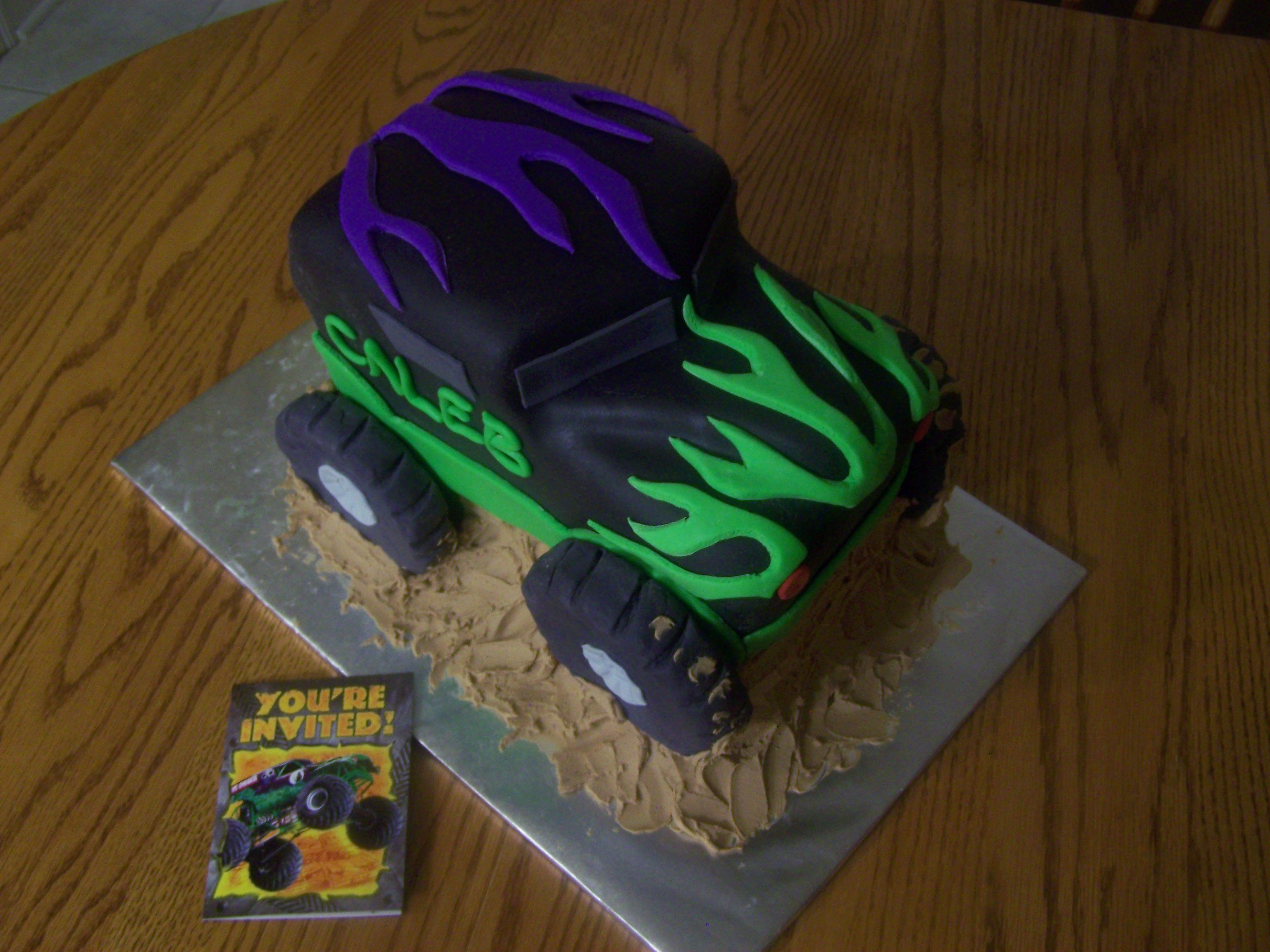 Grave Digger Monster Truck Cake Google images Truck cakes and Boy