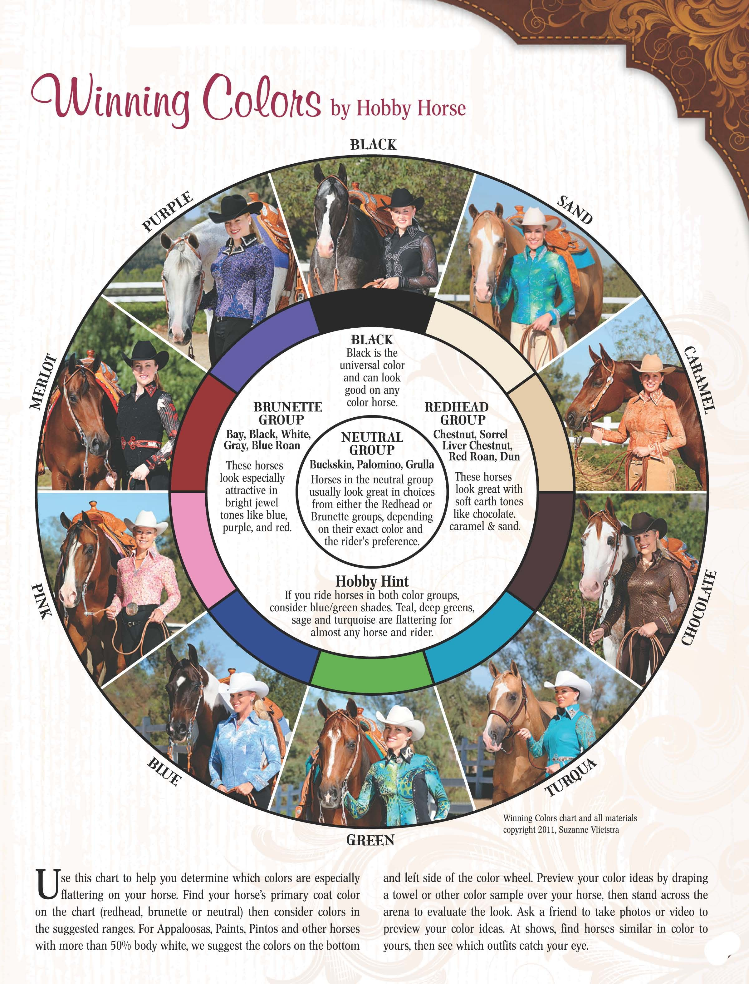 Winning Colors by Hobby Horse- use chart to match your show shirt to ...