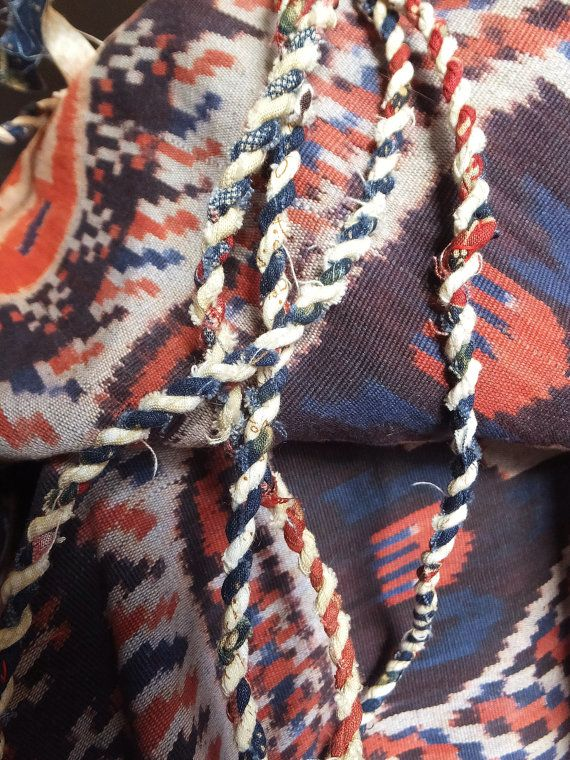 Red White  Blue Rope Garland Rustic Patriotic Fourth of July