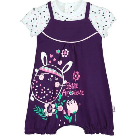 8b9775aba6293 PETIT BÉGUIN Barboteuse + t-shirt bébé fille Plumette(Multicolore ...