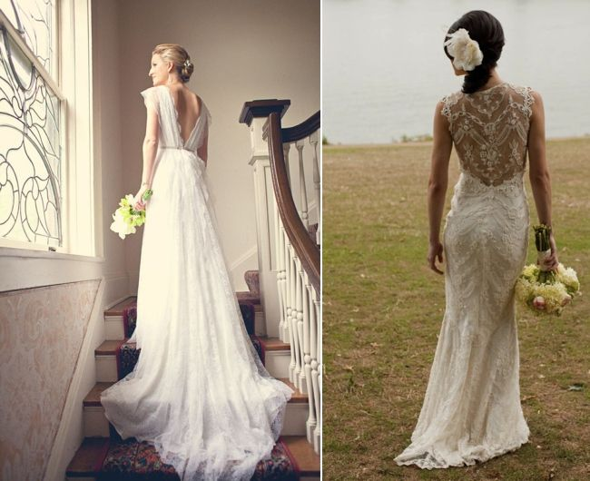Backless Wedding Gowns: Friday's Fab 5 Backless Wedding Dresses