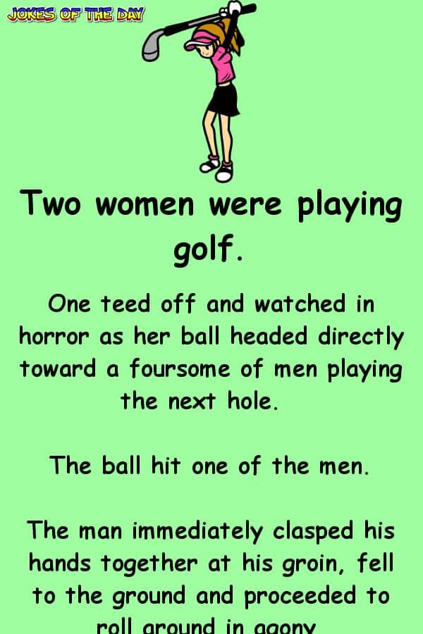 The woman golfer teed off and hits a guy playing ahead #golfhumor