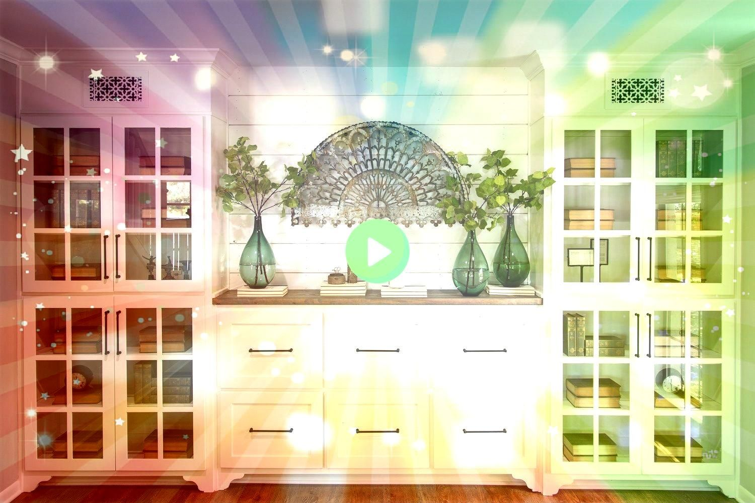 built in custom shelving in here to store and keep books photos and odds and ends built in Episode 11  The Prickly Pear HouseWe built in custom shelving in here to store...