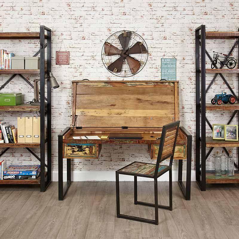Urban Chic Reclaimed Wood Laptop Desk Dressing Table