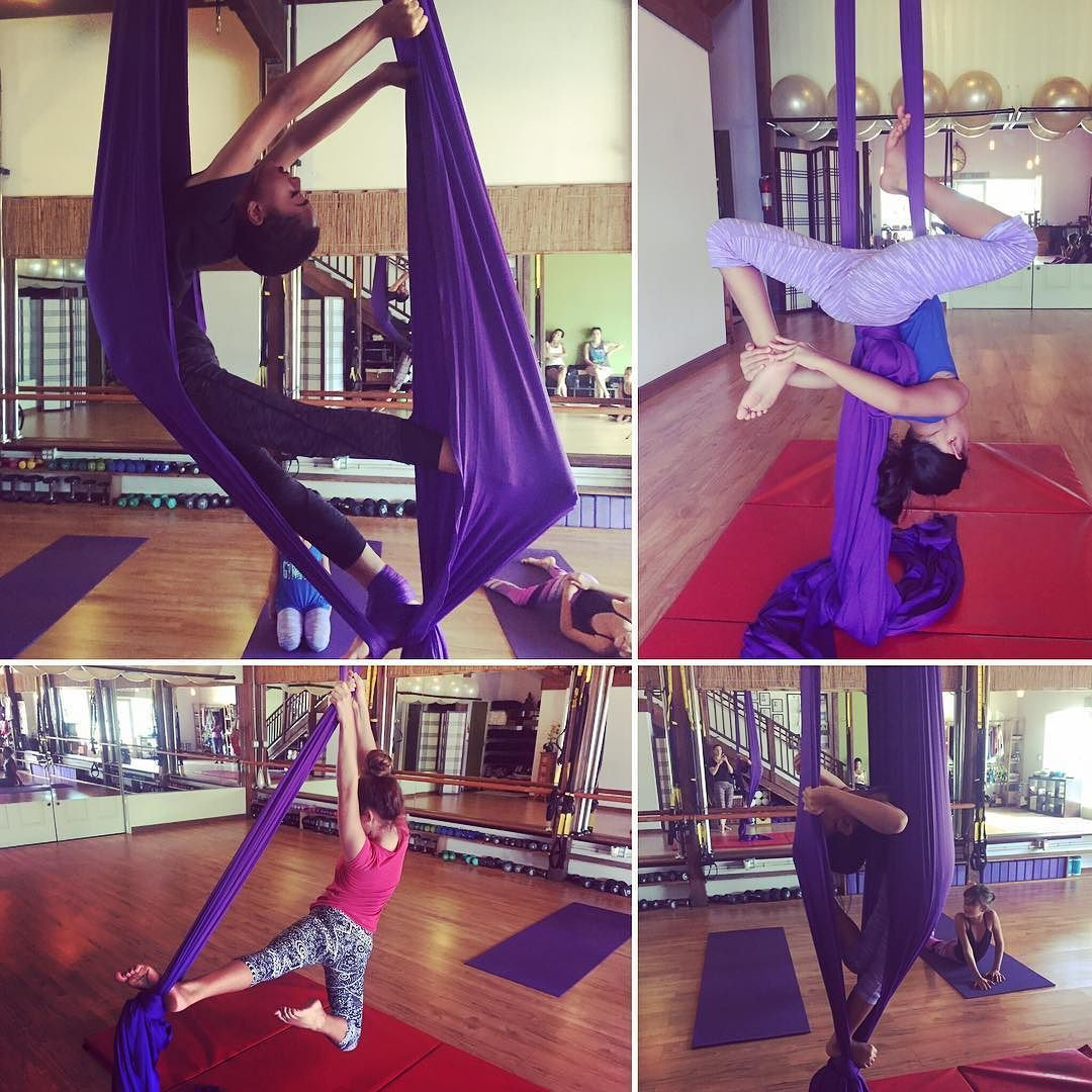 Look at my kidus aerial silks class rocking it today way to go