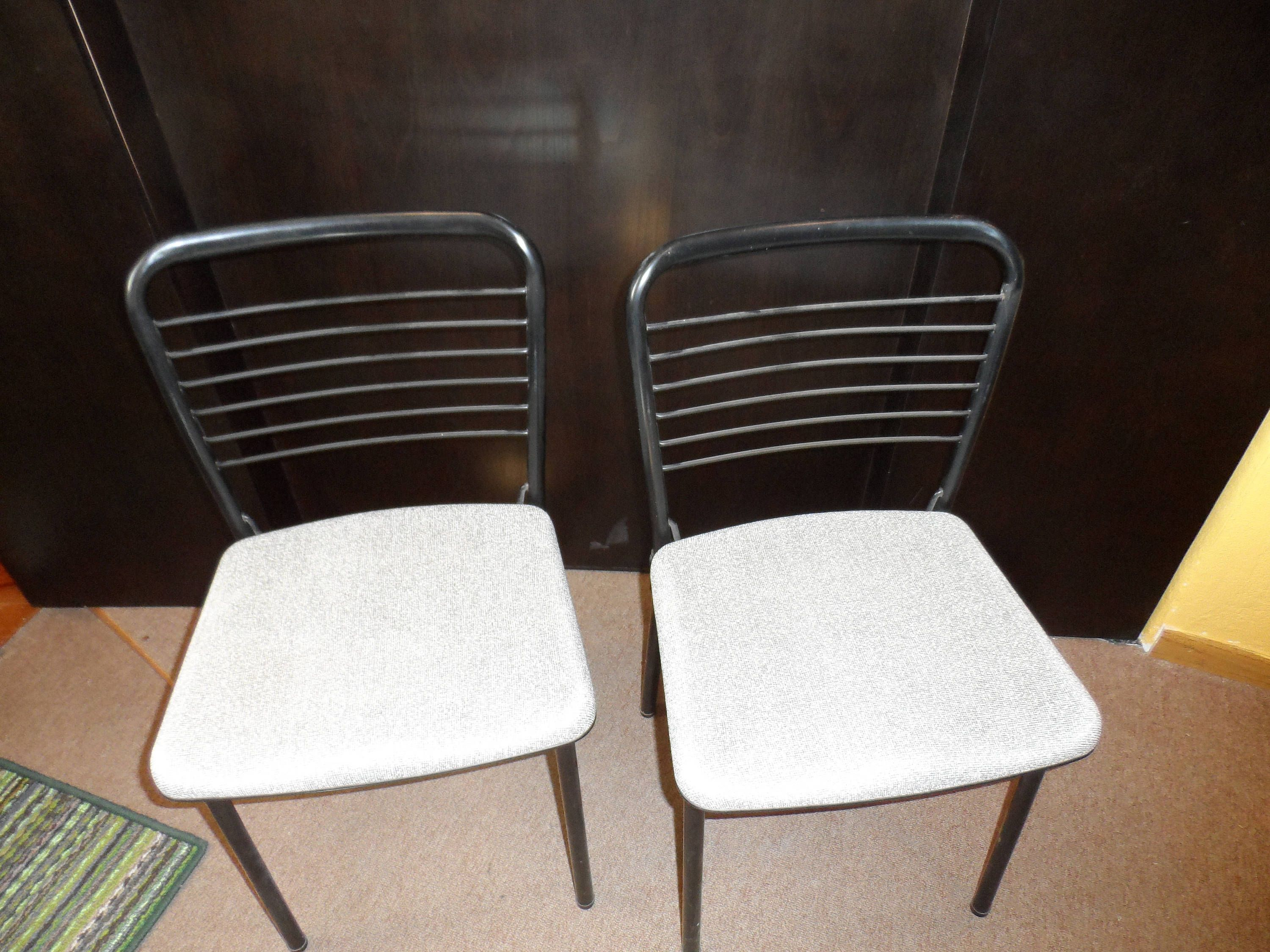 Vintage Cosco folding card table chairs by ResoledResold on Etsy