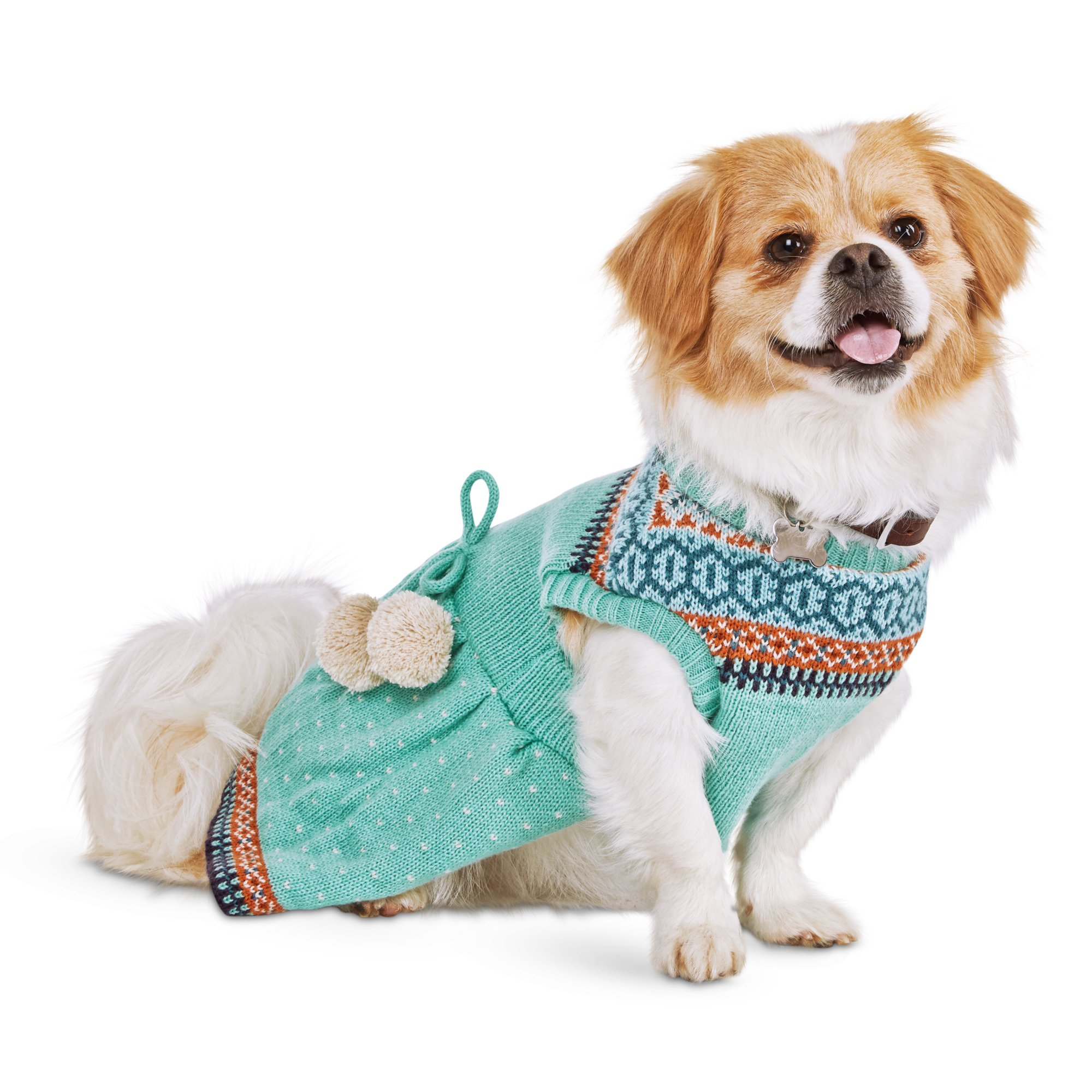 Bond Co Pom Pom Fair Isle Dog Dress Petco Dog Dresses Petco Fair Isle