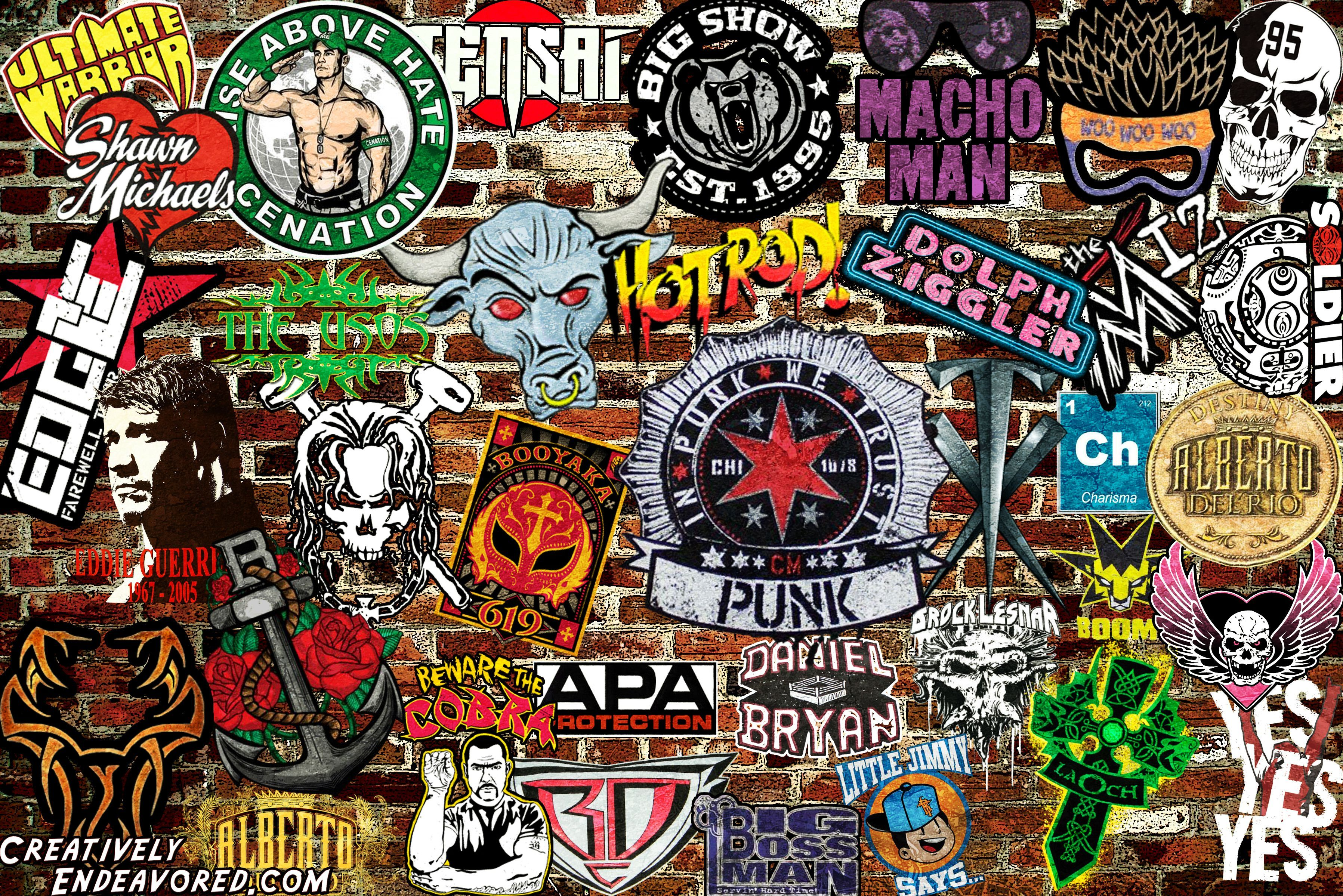 40 Stickers Wallpapers Download at WallpaperBro Wwe