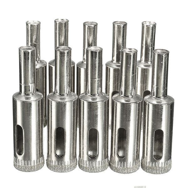 10pcs 13mm Diamond Hole Saw Set Tile Ceramic Glass Porcelain Marble Hole Saw Drill Bit Porselen