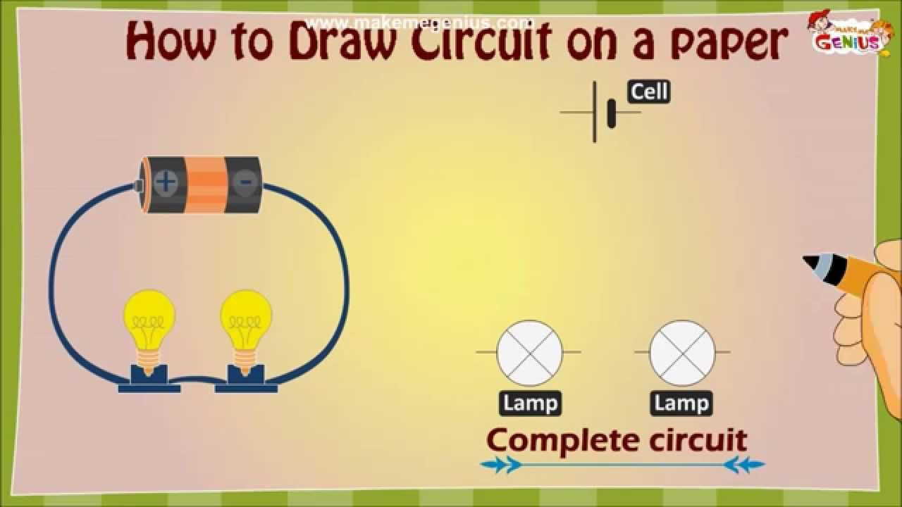 How to draw an Electric Circuit diagram for Kids   Electrical circuit  diagram [ 720 x 1280 Pixel ]