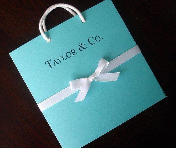 Breakfast At Tiffany S Baby Shower Invitation Blue Wedding Invitations Quinceanera Unique Bridal