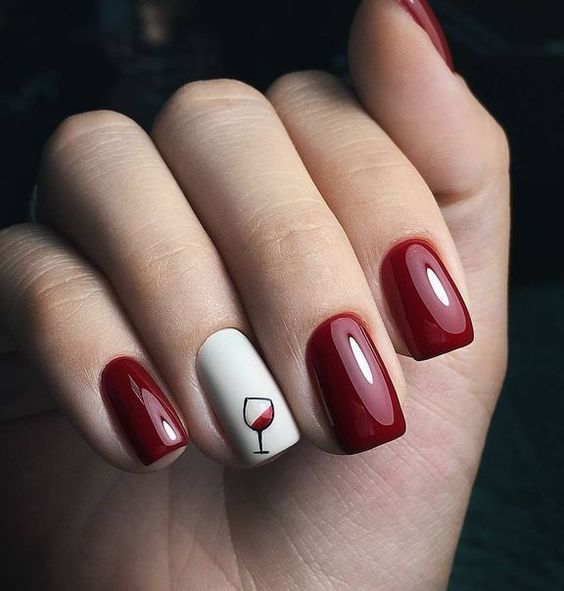 New Year Red Nail Styles To Inspire You 2020 Wine nails