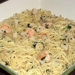 Savory Sea Scallops And Angel Hair Pasta Recipe Scalps