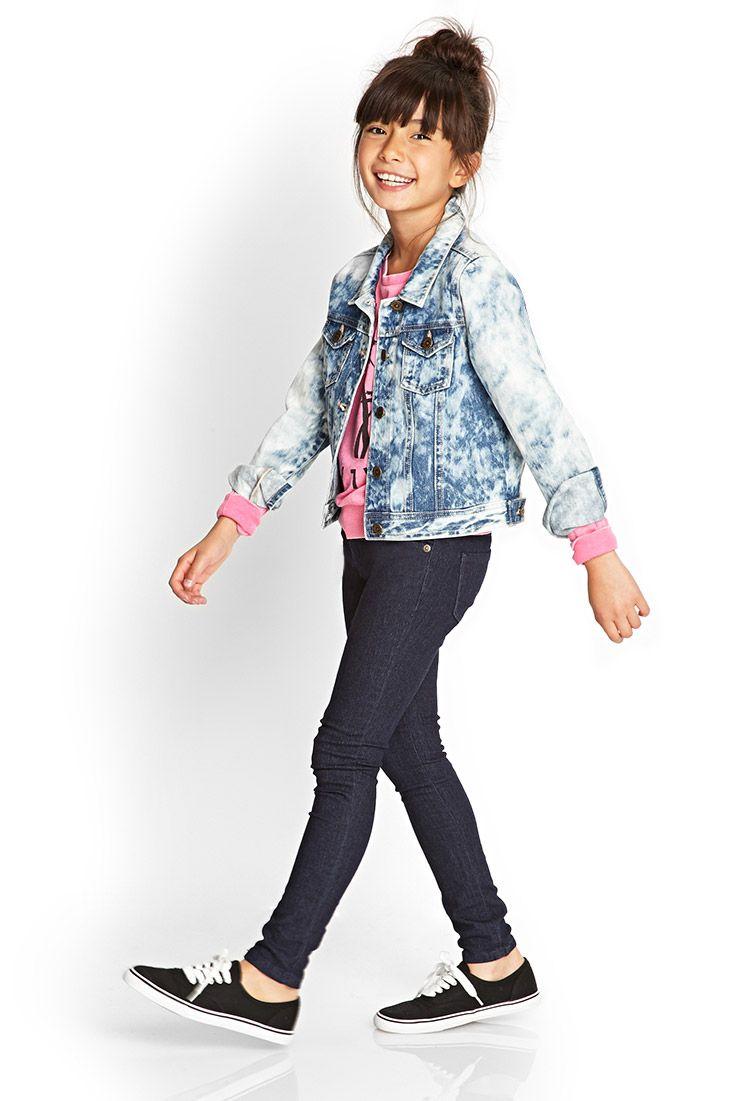 Stone Wash Denim Jacket (Kids) #F21Girls