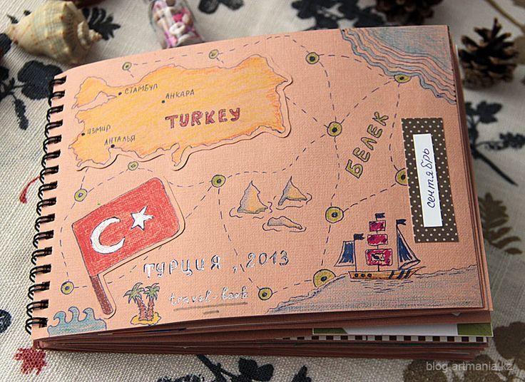 Pin on Travel diary scrapbook