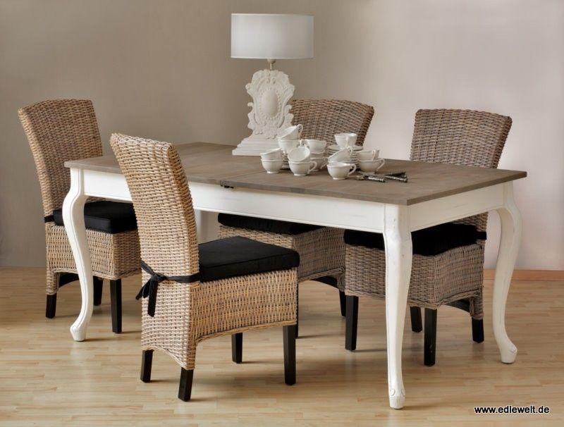 Essgruppe #Vintage (5-teilig) - #Esstisch \ 4 #Stühle ohne - küchentische und stühle