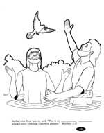 Coloring Picture Of John Baptizing Jesus In The Childrens Salvation Curriculum Answers For New Christians