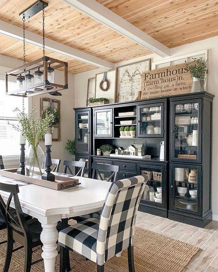 Popular cozy rustic dining room decor and design ideas 4