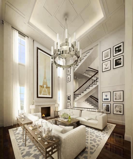 track lighting for high ceilings. love the ultra high ceiling and staircase that almost track lighting for ceilings