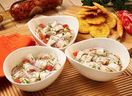 Receta de Ceviche de pollo estilo manaba en TQMA de Pronaca