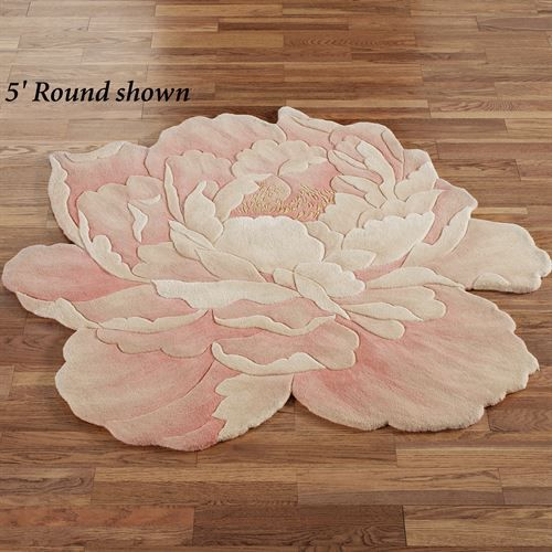 Juliette Round Peony Flower Shaped Rugs In 2019 Peach Rugs For