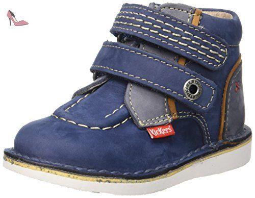 Kickers Wapa, Chaussures Premiers Pas Bébé Garçon, Bleu