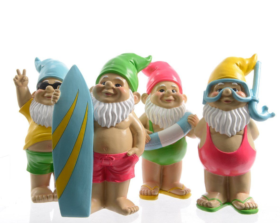 Garden Gnomes On Sale: Large Seaside Fun Garden And Home Gnomes (Set Of 4
