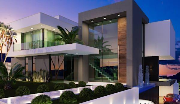 Gramaglia arquitetura arquitetos em nova lima fachadas for Casas modernas lima
