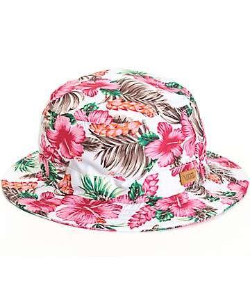6042c2c86cfd8f Vans Brohola Hawaiian Floral Bucket Hat | Summer | Hawaiian hats ...